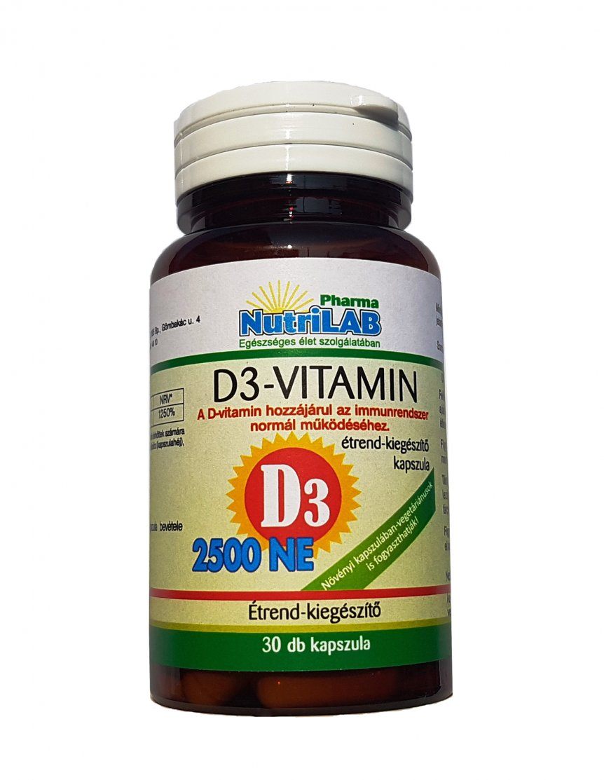 NutriLAB D3 2500 NE Vitamin kapszula 30X