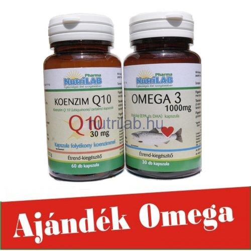 NutriLAB Koenzim q10 ajándék Omega3 kapszulával www.nutrilab.hu