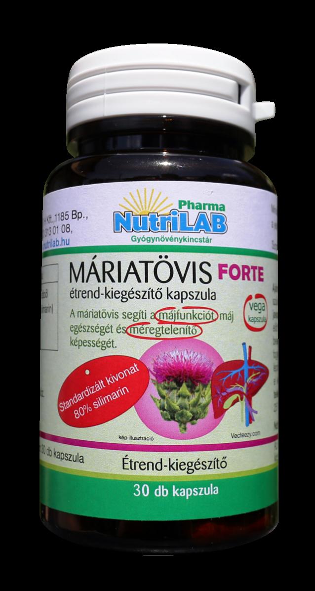 NutriLAB Máriatövis forte kapszula 30x