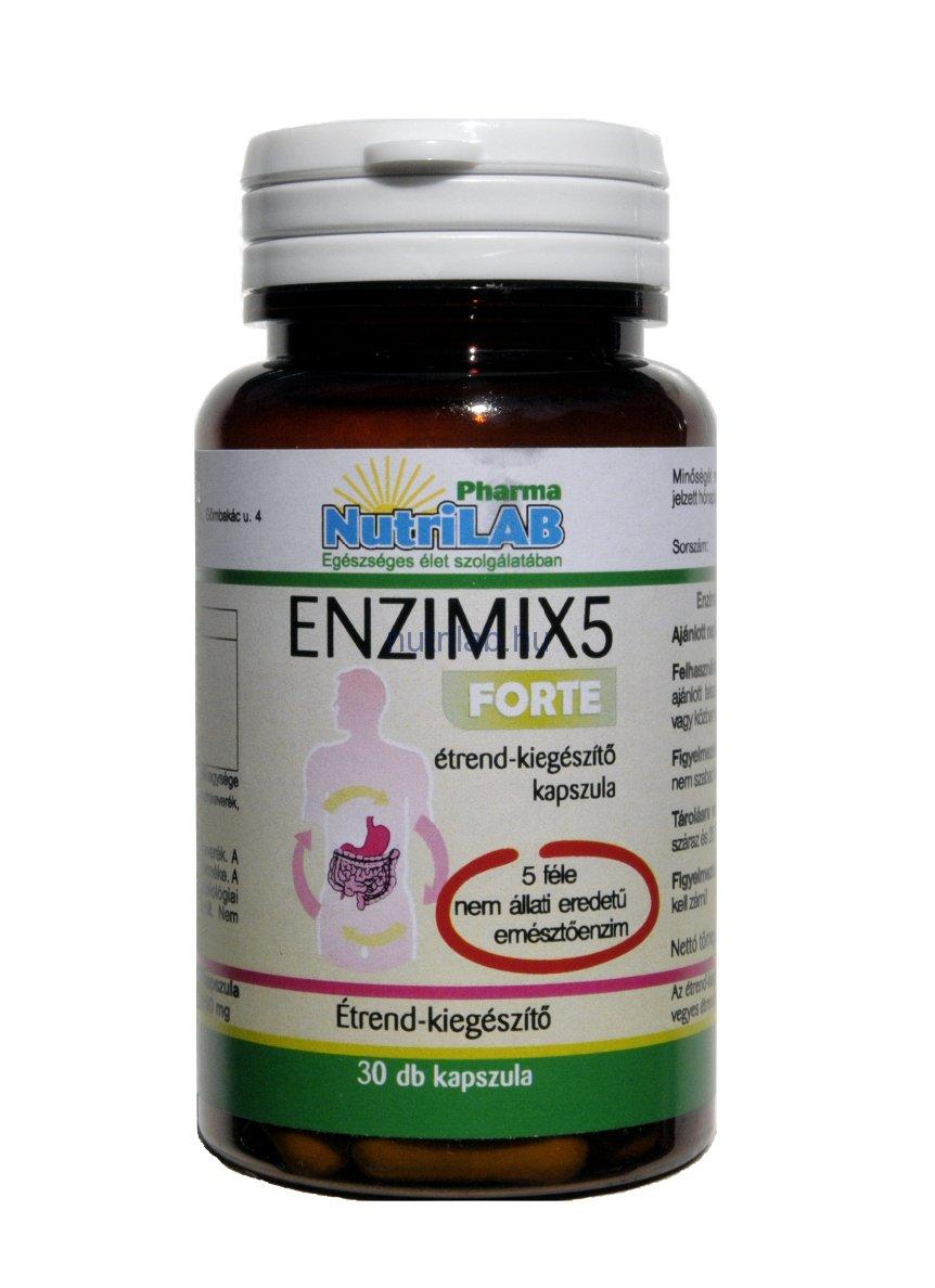 NutriLAB Enzimix5 Forte kapszula 30X