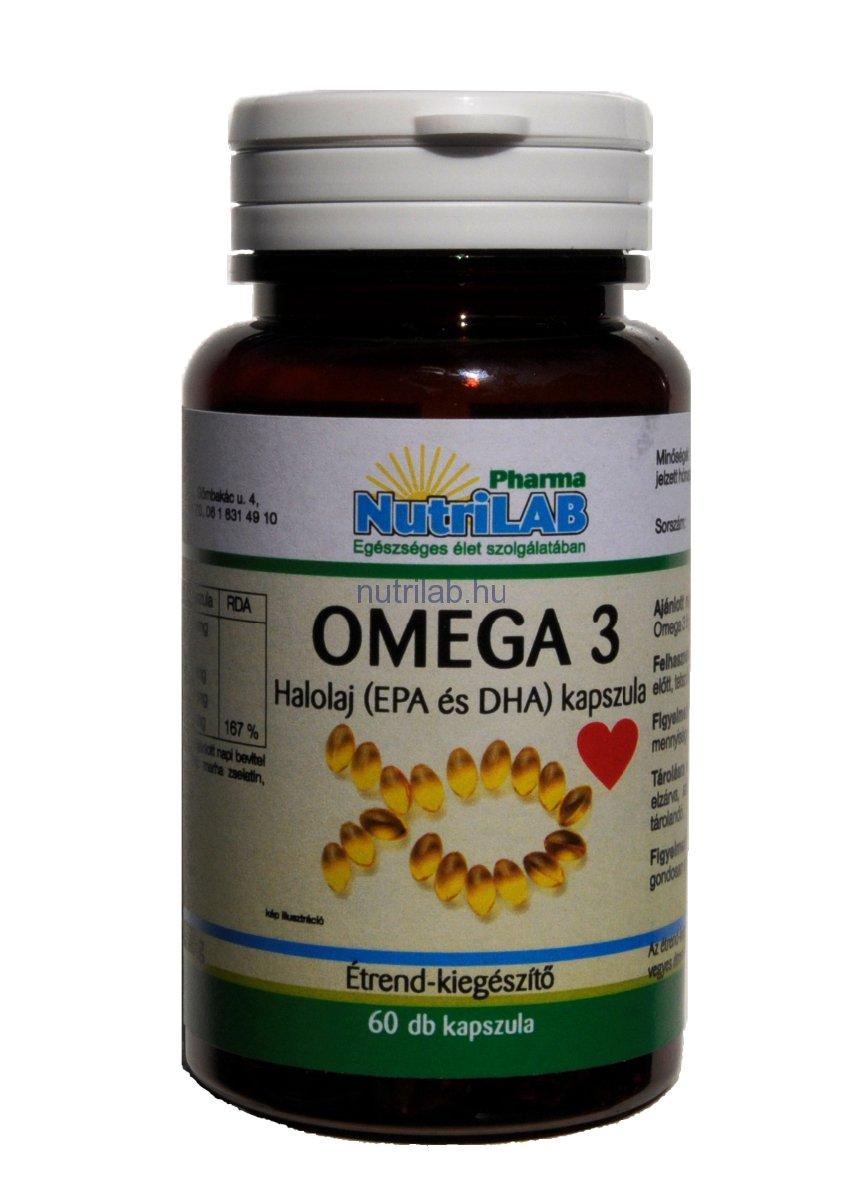 NutriLAB Omega 3 500 mg kapszula 60x