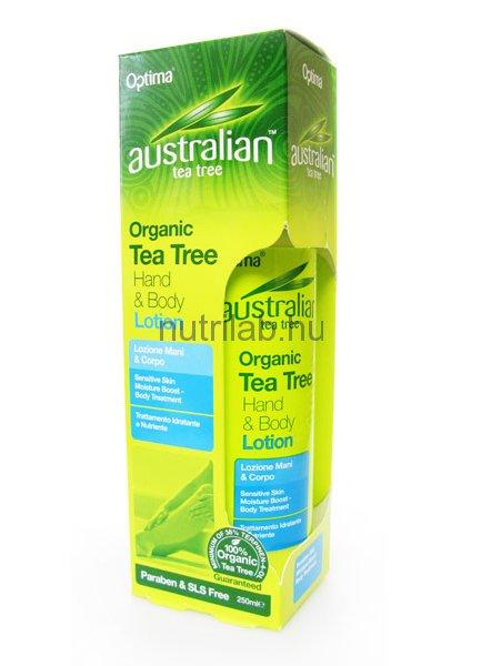 Optima Ausztrál teafaolajos kéz és testápoló 250 ml