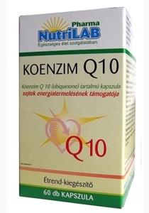 NutriLAB Koenzim q10 kapszula 60X www.nutrilab.hu