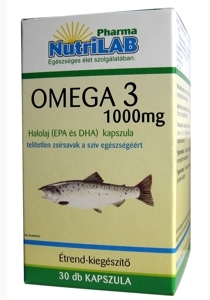 NutriLAB Omega 3 halolaj kapszula 60X