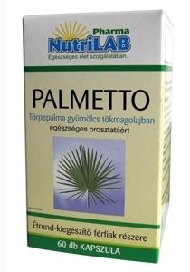 NutriLAB Palmetto törpepálma tökmagolajban 60X kapszula www.nutrilab.hu