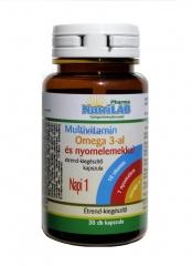 NutriLAB Multivitamin Omega 3-al 30X