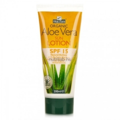 Optima Aloe Vera fényvédő testápoló SPF 15 200 ml