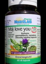 NutriLAB Máj love you kapszula 60X