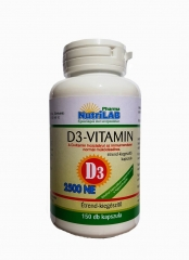 NutriLAB D3 Vitamin vega kapszula 150X