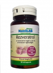 NutriLAB Rezveratrol kapszula 30x
